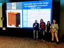 "Asistencia al ""Sustainable mass timber design constructions Symposium"" en Calgary (Canadá)"