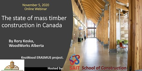 KnoWood Webinar: 'The state of mass timber construction in Canada'